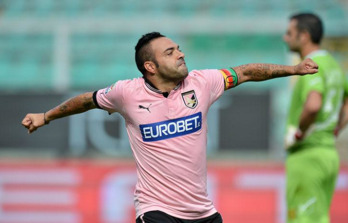 Fabrizio Miccoli, soprannominato il Romario del Salento, in forza al Palermo