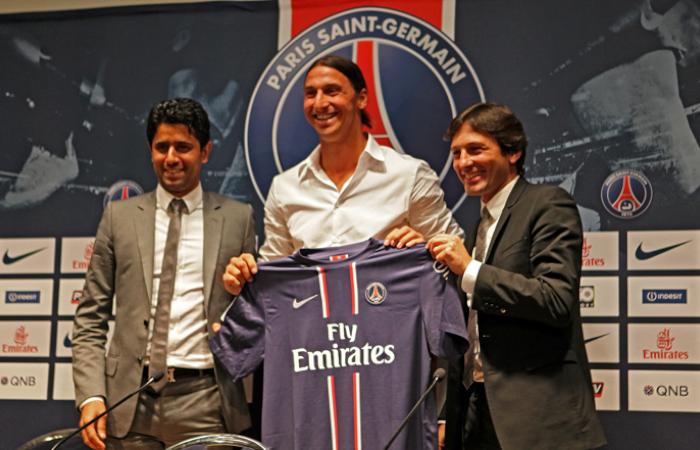 La presentazione di Zlatan Ibrahimovic al Paris Saint Germain