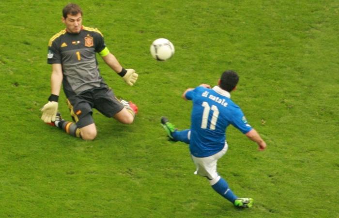 Il gol di Antonio Di Natale alla Spagna durante Euro 2012