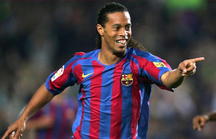 Ronaldinho giocatore del Barcellona