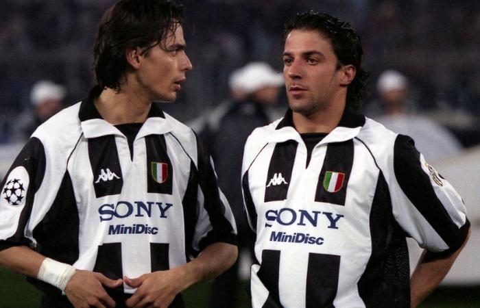 Del Piero e Filippo Inzaghi