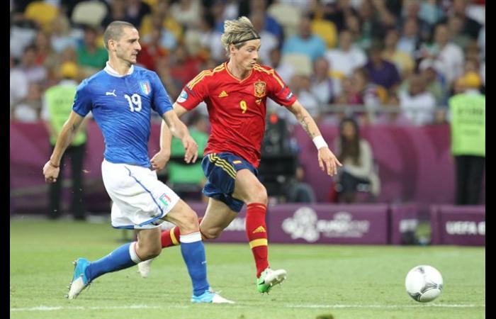Torres con la maglia della Spagna