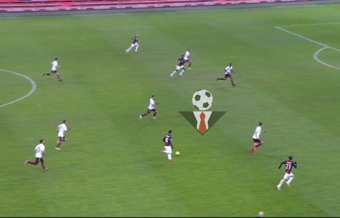 Transizione positiva dei rosso-neri in Milan - Torino